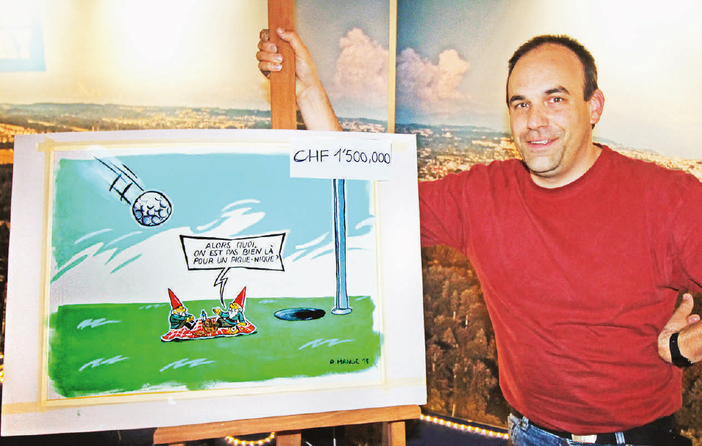 Gazette de l'Expo de Coss – Peinture en direct du dessinateur Romain Mange