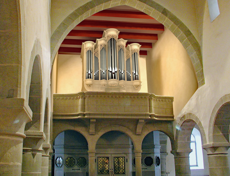 Nouvel orgue de tribune du Temple de Cossonay